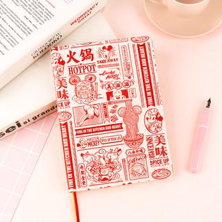 kinbor 迪士尼系列米奇火锅a5皮面笔记本子效率计划手账本日程本记录本创意手帐本
