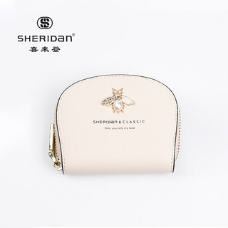 SHERIDAN 喜来登 Sheridan喜来登 牛皮 女士卡包 多功能拉链零钱包