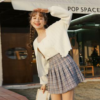 白色空调针织衫外套开衫2021年防晒罩衫夏季短款薄款冰丝上衣女