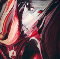 buybuyART 买买艺术 何俊艺 《什么系列2013—13》艺术版画 客厅卧室玄关装饰画 黑色框 画框尺寸50*50cm