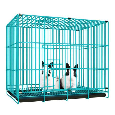 迪熊先生  加粗加密可折叠家用豚鼠笼子兔窝大兔子用品 500# 蓝色可折叠兔子笼