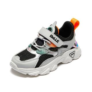 BeLLE 百丽 夏季新款儿童运动鞋飞织网面透气跑步鞋休闲鞋男童鞋子跑鞋中大童