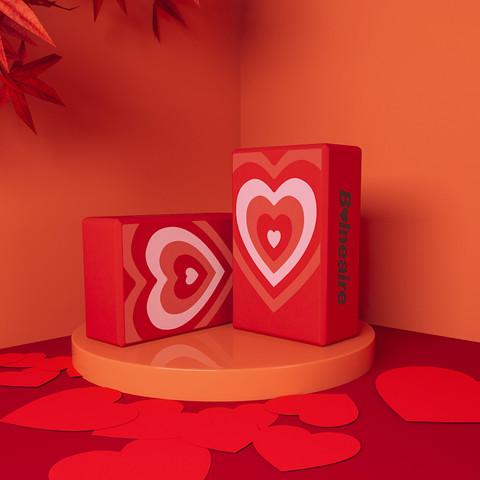 BALNEAIRE 范德安 BE瑜伽砖 心形设计图案3D黄金切割比例瑜伽专业辅具
