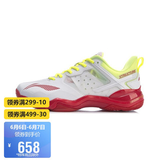 LI-NING 李宁 男鞋羽毛球鞋2021音爆OP男子羽毛球专业比赛鞋AYZR001