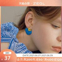 ZENGLIU 爱心耳钉女可爱心形耳环2021新款潮网红小清新925银针耳饰