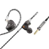 宁梵声学 NA2+ 入耳式挂耳式动圈有线耳机 曜石黑 3.5mm