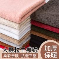 澳码 羊羔毛布料加厚珊瑚绒毛绒棉花绒保暖内衬玩偶绒布羊羔绒面料处理 酒红(半米价)