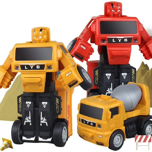 QIQU TOYS琪趣  一键变形玩具金刚惯性小汽车
