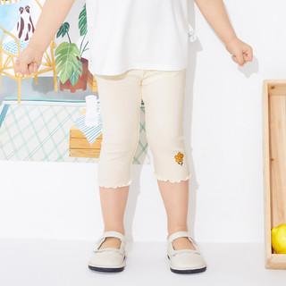 balabala 巴拉巴拉 女童打底裤儿童七分裤2021新款夏装基础款小童宝宝裤