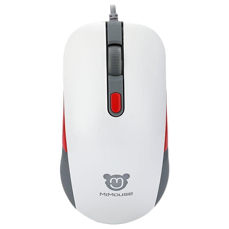 MiMouse 咪鼠科技 M1 有线鼠标 4000DPI 红色