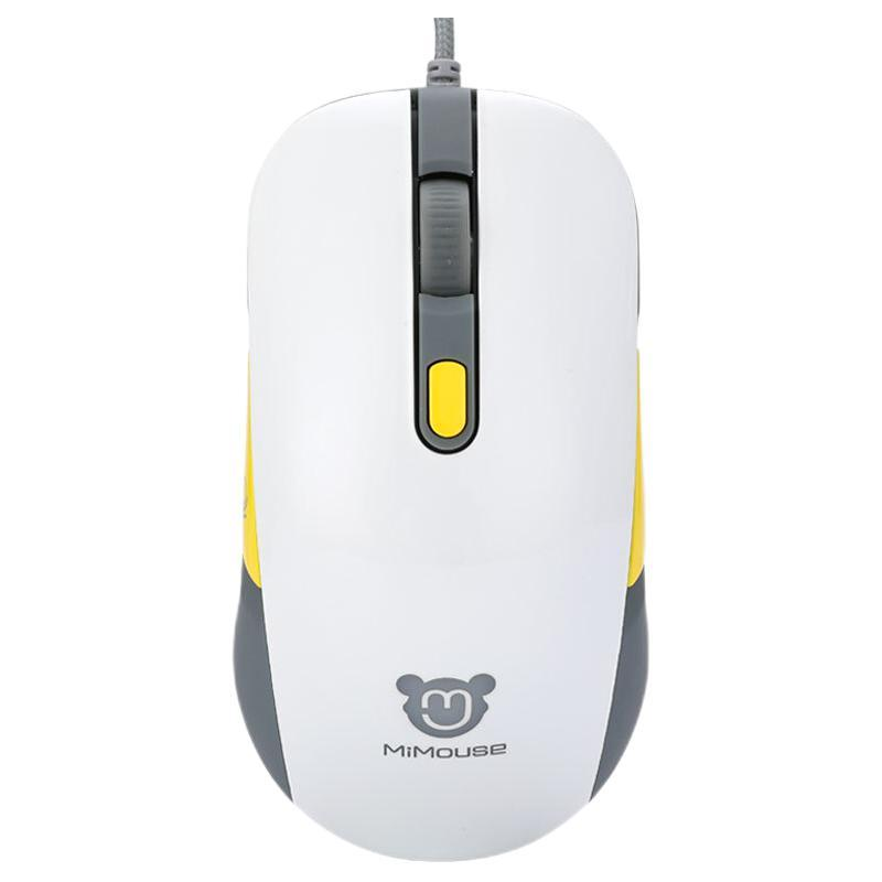 MiMouse 咪鼠科技 M1 有线鼠标 4000DPI 黄色
