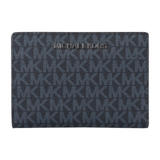 MICHAEL KORS 迈克·科尔斯 MK 女士短款老花两折多卡位子母卡包