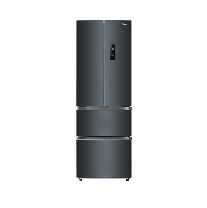 Midea 美的 321升 多门法式四门双开门家用电冰箱双变频一级能效节能低噪风冷无霜 以旧换新BCD-321WFPM(E)