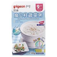 PLUS会员:Pigeon 贝亲 扇贝柱蔬菜粥 120g