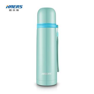 HAERS 哈尔斯 保温杯子弹头户外男女士学生  粉蓝色500ml(304不锈钢 珠光系别)