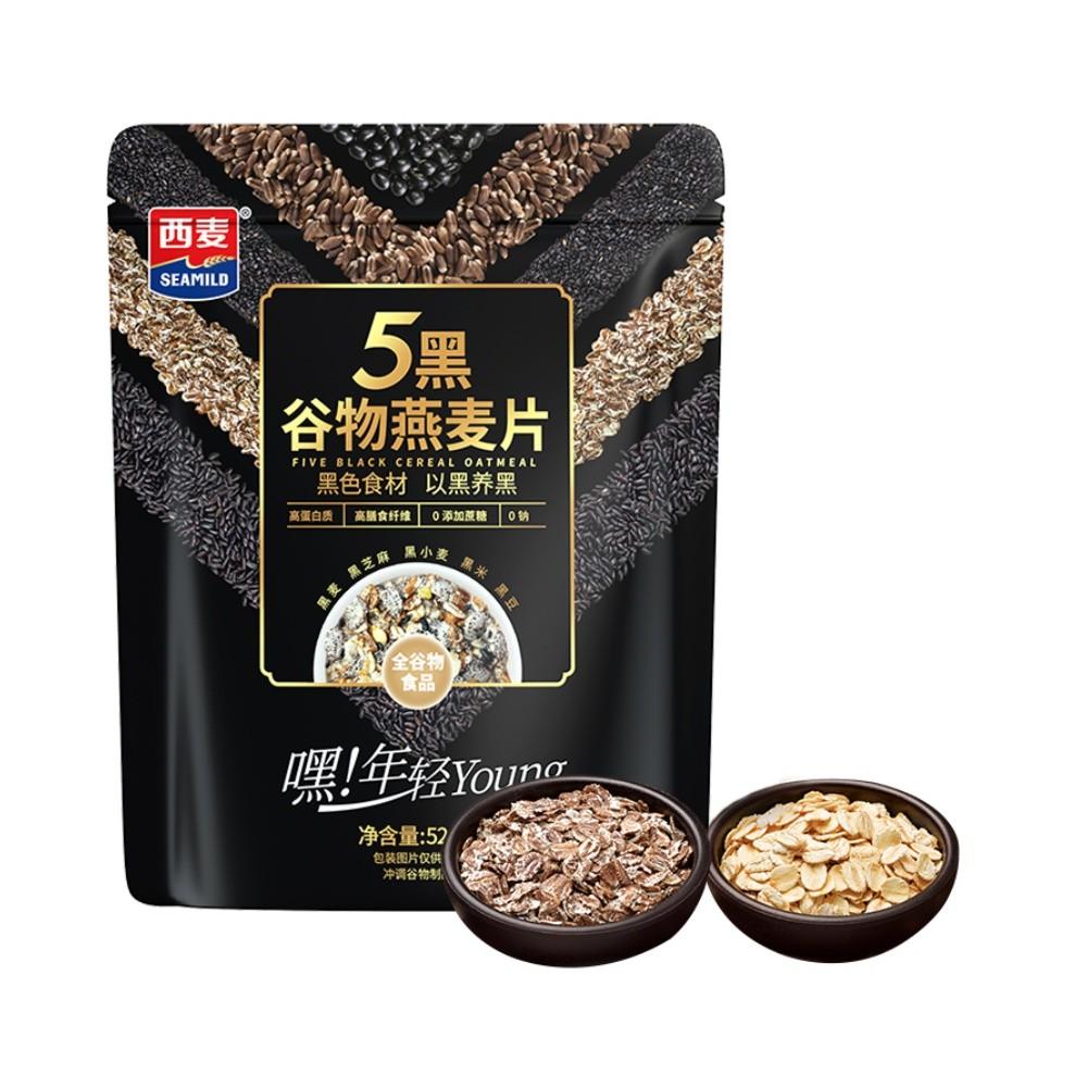 SEAMILD 西麦 五黑混合黑麦麦片  520g