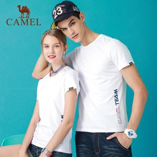 CAMEL 骆驼 户外运动T恤夏新款情侣款男女运动跑步休闲吸湿排汗舒适透气圆领短袖T恤
