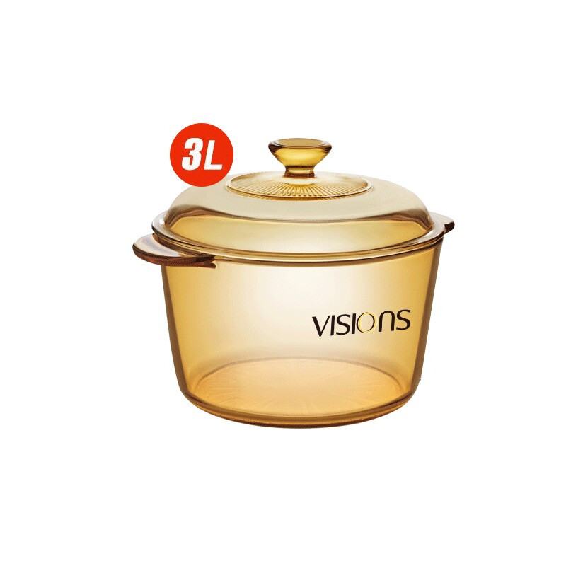 VISIONS 康宁 玻璃锅 3L深汤锅