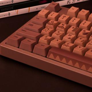 AJAZZ 黑爵 Chocolate Cubes 104键 有线机械键盘 巧克力 FIRSTBLOOD兰轴 无光