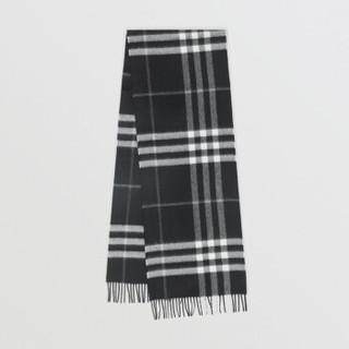 BURBERRY 博柏利 男女通用黑色经典格纹羊绒围巾 80155371