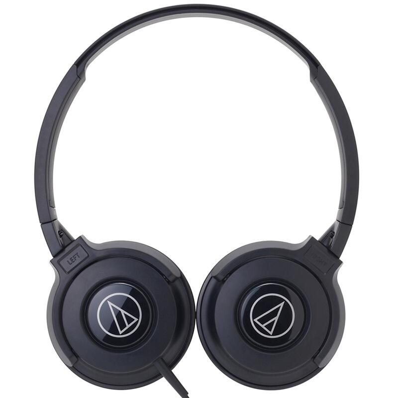 audio-technica 铁三角 S100IS 耳罩式头戴式动圈有线耳机 黑色 3.5mm