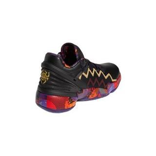 adidas 阿迪达斯 D.O.N. Issue 2 GCA 男子篮球鞋 G55791 黑/棕黄/暗夜红 45