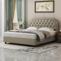 16日0点:Sleemon 喜临门 爱德华 美式轻奢皮床双人床+床垫套餐