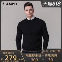 LAMPO 蓝豹 男士圆领针织衫