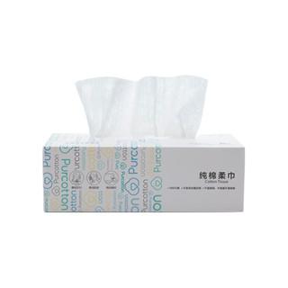 Purcotton 全棉时代 一次性洗脸巾 1层80抽6盒  (20cm*20cm)