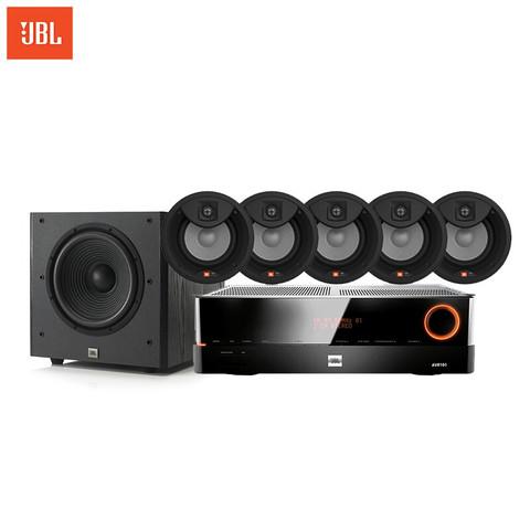 JBL 杰宝 Studio2 8ic+AVR101 5.1音 圆形