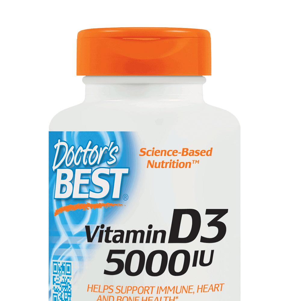 金达威Doctor's Best多特倍斯维生素D3骨骼VD补钙5000IU360粒*2d3