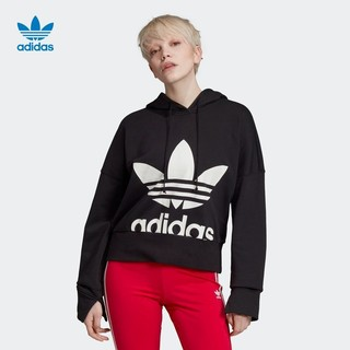 adidas 阿迪达斯 CROPPED HOODIE  EC1874女款运动套头衫