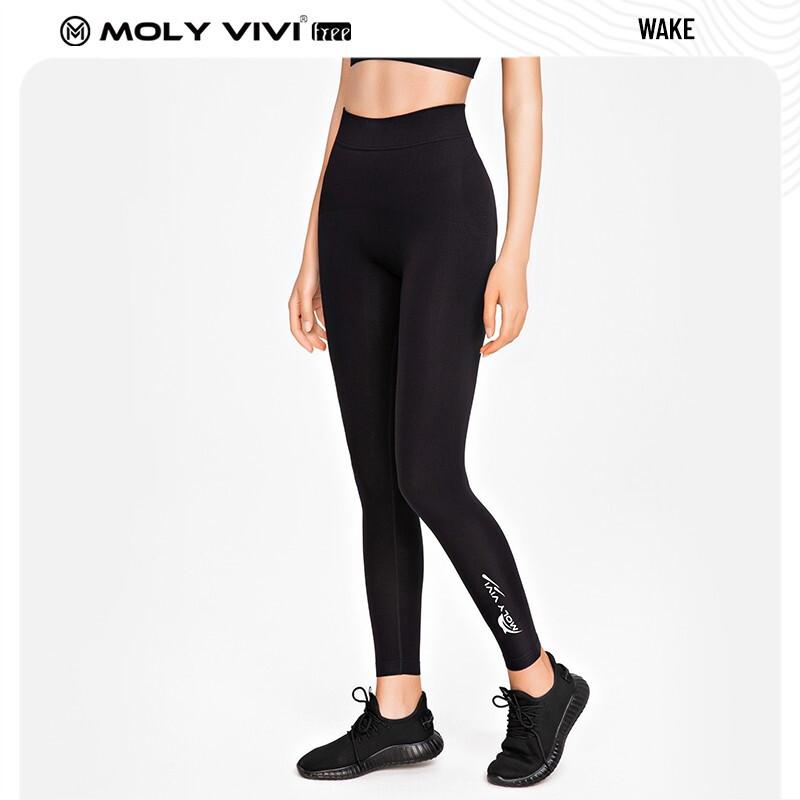 moly vivi molyvivi魔力裤小脚裤  夜光海豚裤-暗夜黑 均码-M