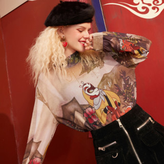 elf sack 妖精的口袋 大闹天宫联名系列 女士半高领打底衫 1110_AL7004