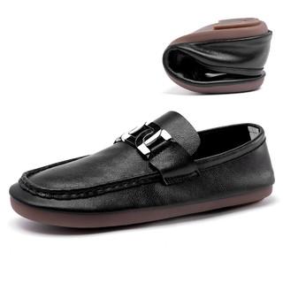 RED DRAGONFLY 红蜻蜓 2021春季新款软底舒适休闲皮鞋轻便手工无胶豆豆鞋男鞋