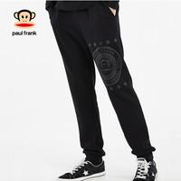 PaulFrank/大嘴猴春秋季款裤子男运动长裤秋装男士宽松束脚 黑色