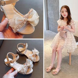 Barbie 芭比 女童凉鞋2021新款童鞋时尚公主鞋小女孩鞋子凉鞋女夏季