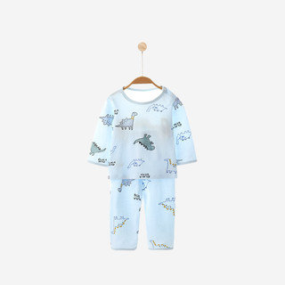 YISHUANGER 宜爽儿 宝宝睡衣套装夏季衣服婴儿儿童薄款棉长袖家居服空调服男童
