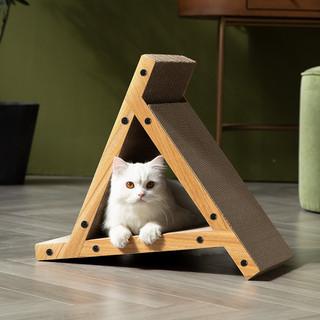 FUWAN 福丸 猫抓板 猫玩具立式三角/风车固定抓板 高品质宠物用品 三角款