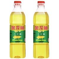 金龙鱼 精炼一级大豆油 900ml*2瓶