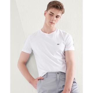 SEPTWOLVES 七匹狼 短袖T恤男士夏季新品时尚T恤衫衣服男夏装 803(本白) 170/88A/L