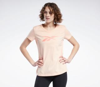 Reebok 锐步 运动经典百搭基础LOGO女子夏季百搭圆领短袖T恤H52982