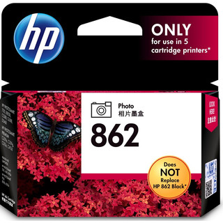 HP 惠普 CB317ZZ 862号 黑色照片墨盒(适用HPPhotosmartC5388 B210a B110a 6510 Photosmart7510)