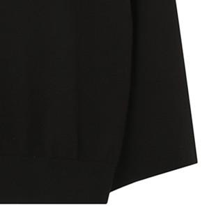 Meters bonwe 美特斯邦威 女士低圆领针织衫 88716663 8影黑1 M