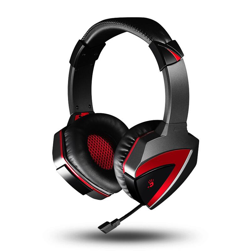 Bloody 血手幽灵 G501 耳罩式头戴式耳机 黑色 USB口