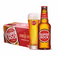 临期品:SUPER BOCK 超级波克 葡萄牙经典 SuperBock黄啤 1L*6瓶