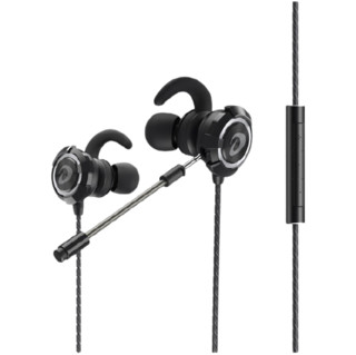 Dareu 达尔优 EH728 入耳式挂耳式有线耳机 黑色 3.5mm