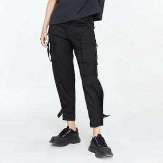 26日10点 : ONLY 121214006 女款束脚工装九分休闲裤