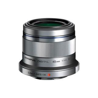 OLYMPUS 奥林巴斯 M.ZUIKO DIGITAL 45mm F1.8 标准定焦镜头 奥林巴斯卡口 37mm 银色