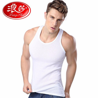 Langsha 浪莎 L88999 男士背心纯棉打底透气